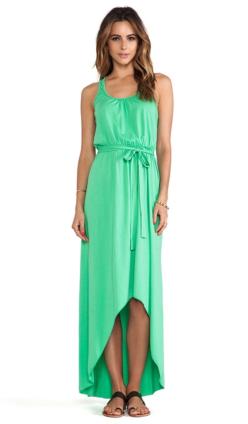 Seamless Scoop Neck Racer Back High Low Maxi Dress