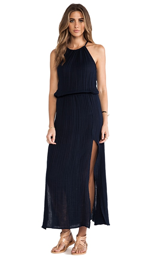 Double Slit Halter Dress
