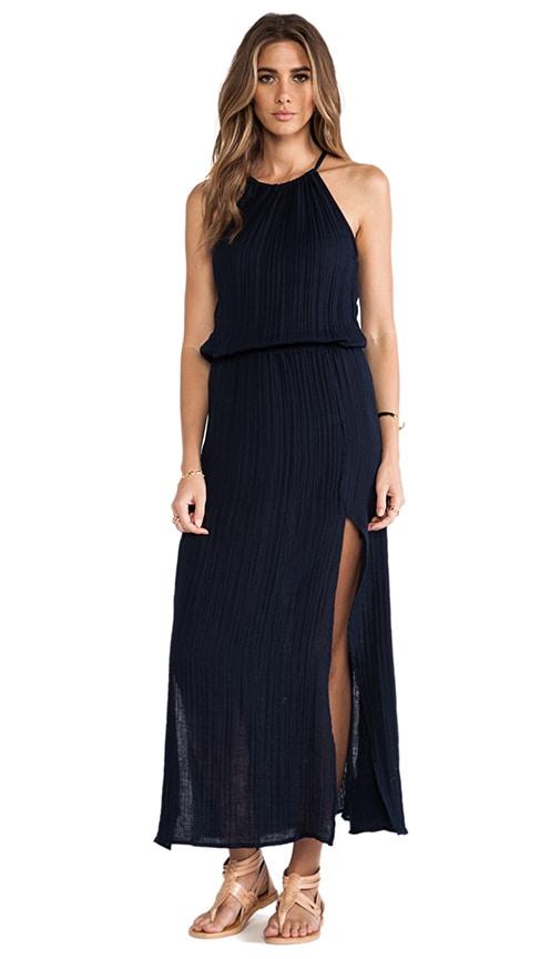 Double Slit Halter Dress