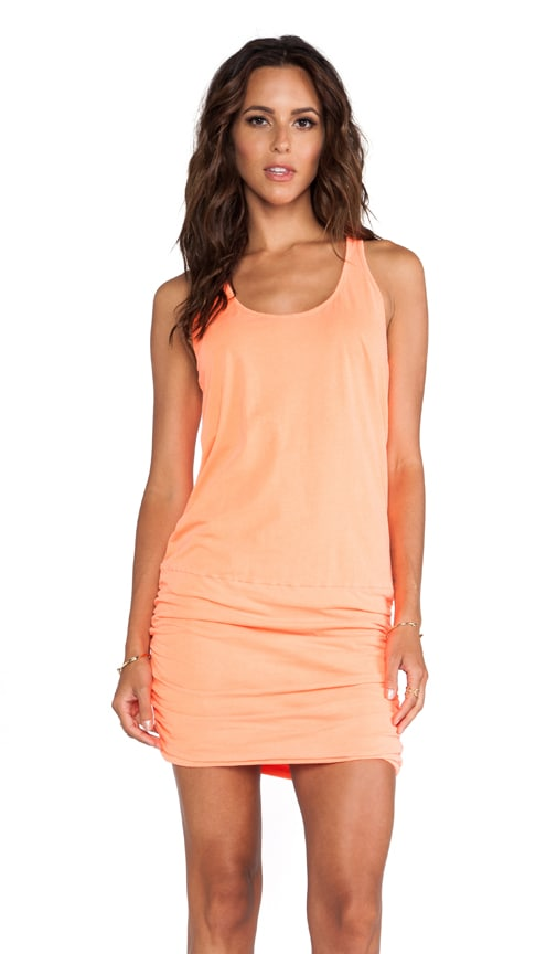 X REVOLVE Jersey Knit Sleeveless Scoop Neck Racerback Shirred Dress