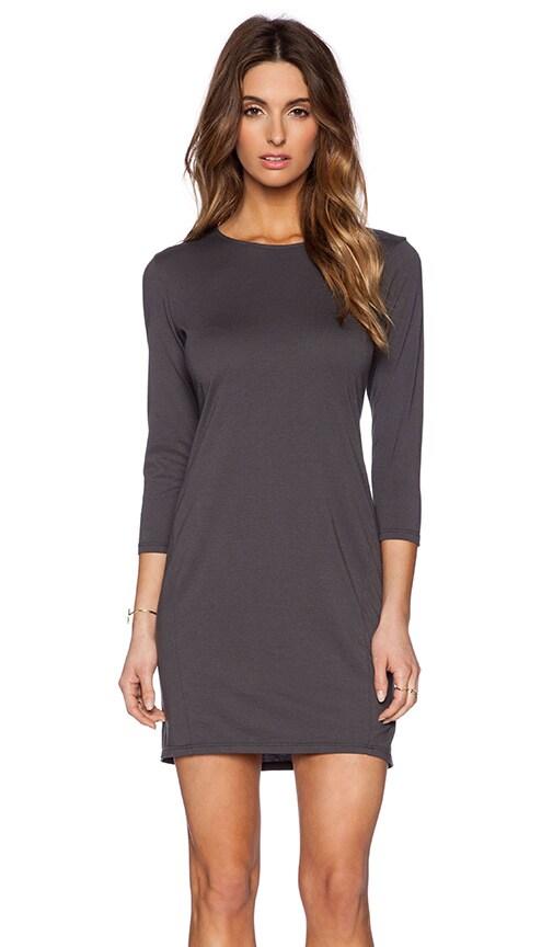 Michael Stars 3/4 Sleeve Drape Dress in Oxide