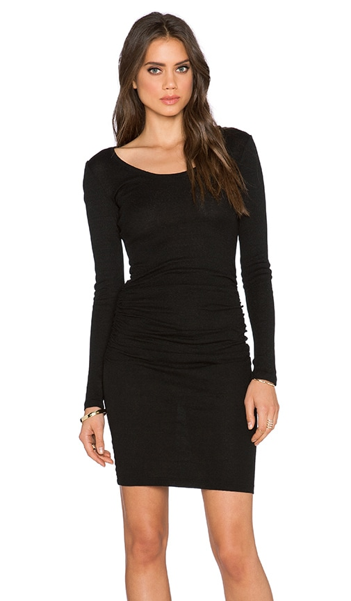 Long Sleeve Shirred Dress