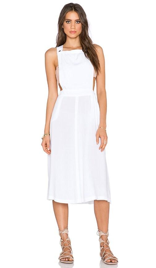 Michael Stars Apron Midi Dress in White