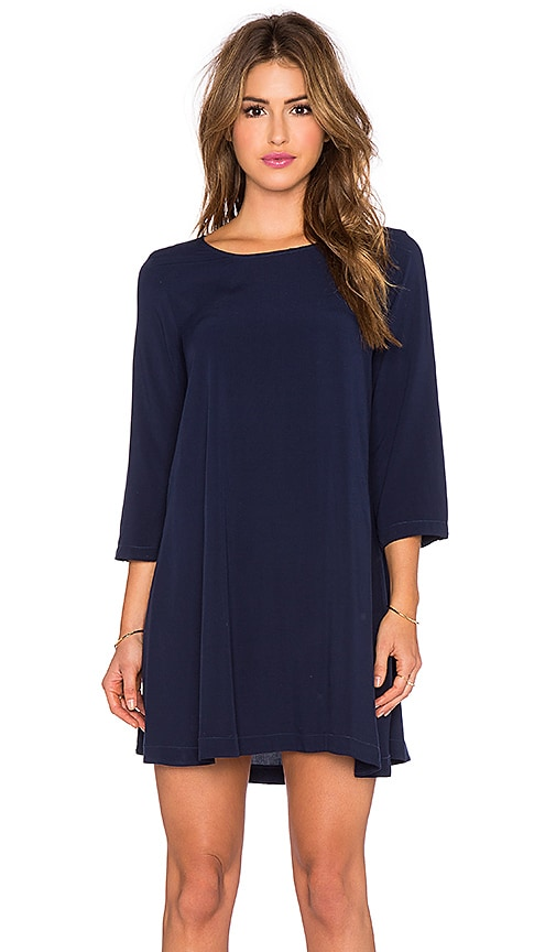 Michael Stars 3/4 Sleeve Mini Dress in Nocturnal