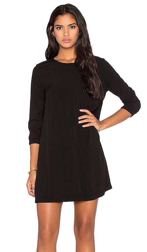 3/4 Sleeve Crewneck Mini Dress