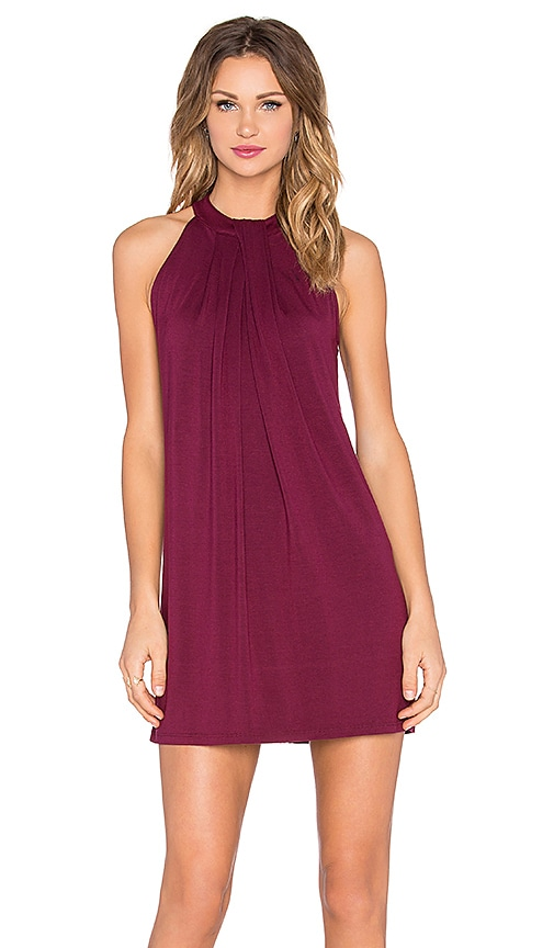 Sasha Sleeveless Draped Halter Dress