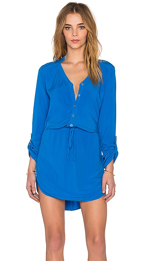 Michael Stars Mini Shirt Dress in Pacific