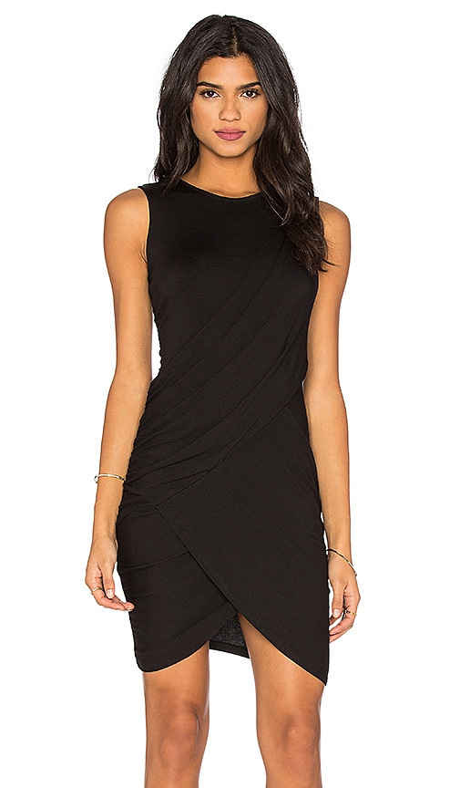 Michael Stars Eveny Bodycon Dress in Black