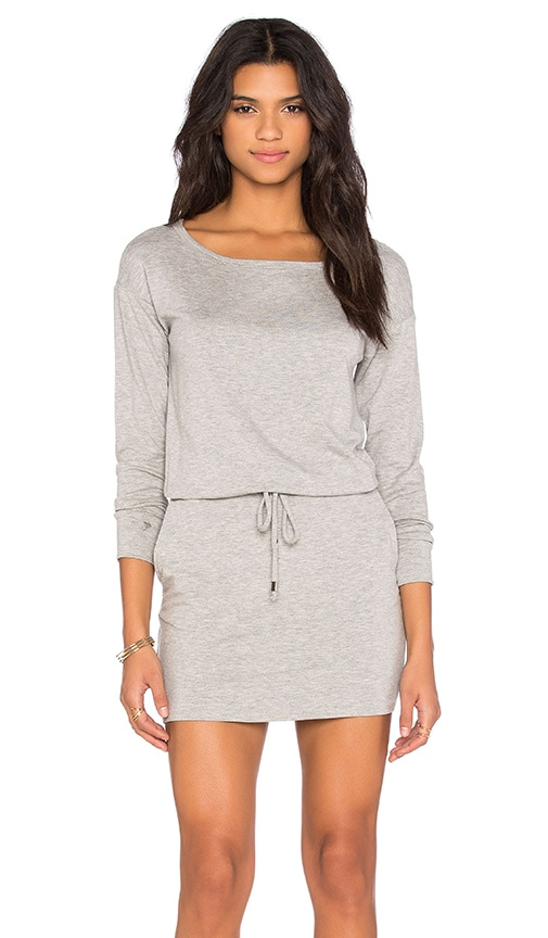 Michael Stars Off The Shoulder Drawstring Dress in Gray
