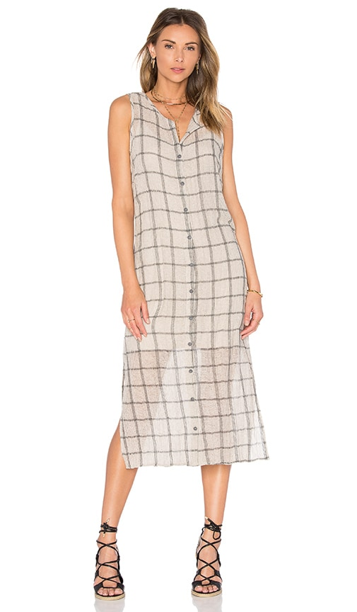 Tank Button Down Midi Dress