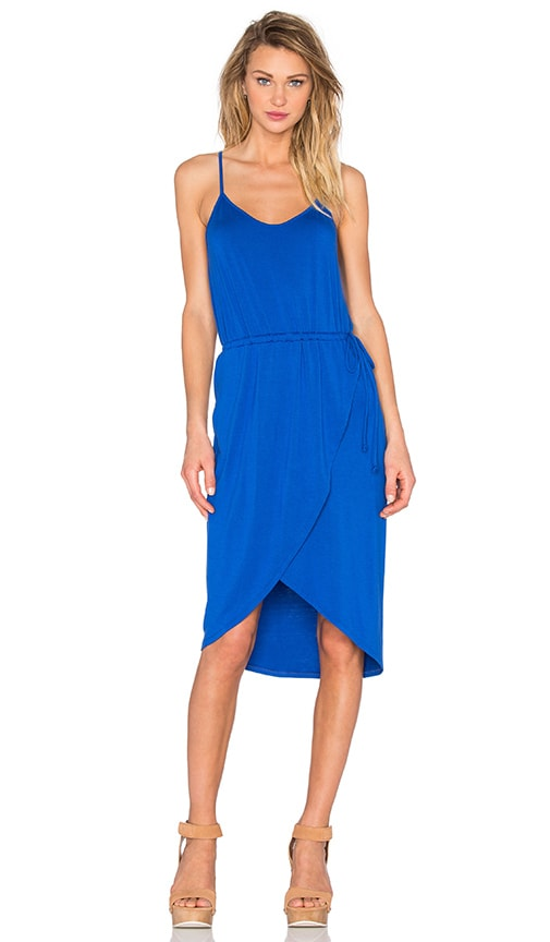 Michael Stars Cami Wrap Dress in Blue