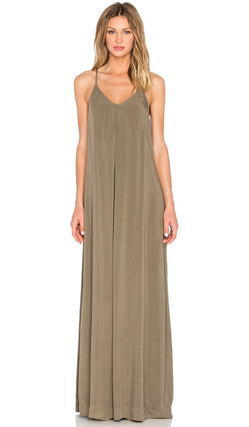 ec099ee6a334 Michael Stars Maxi Slip Dress in Olive Moss | REVOLVE