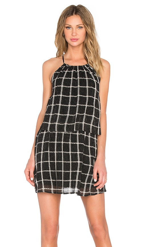 Michael Stars Layered Halter Dress in Black