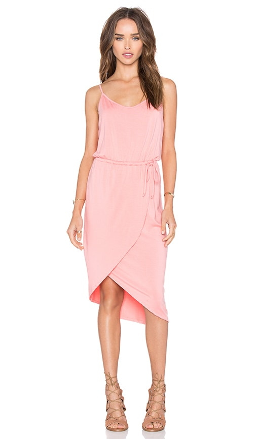 Michael Stars Cami Wrap Dress in Coral