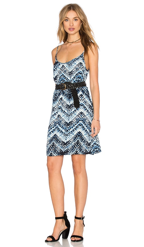 Azure Crepe Print Cami Swing Dress