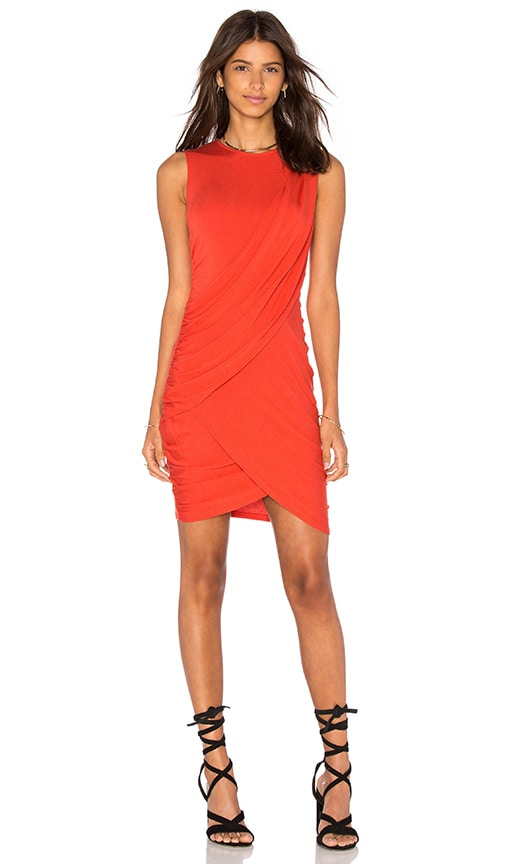 Michael Stars Eveny Bodycon Dress in Orange