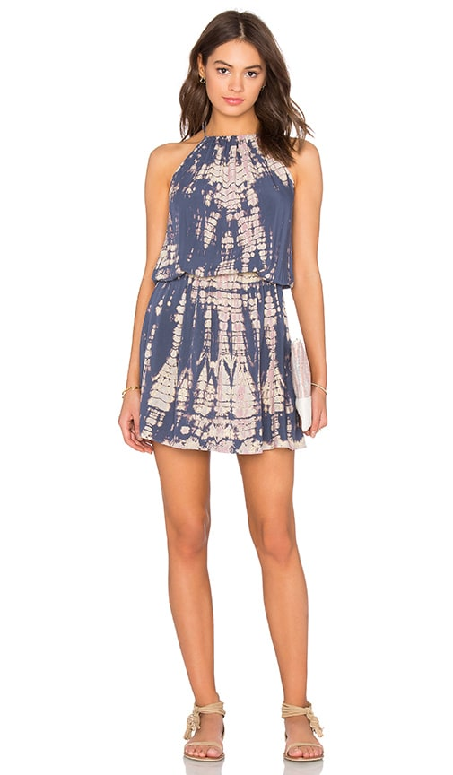 Michael Stars Naomi Wash Front To Back Halter Dress in Gray
