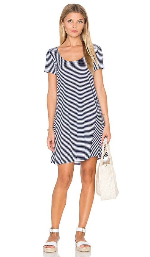 Michael Stars Zuma Stripe Mini Stripe A Line Dress in Nocturnal
