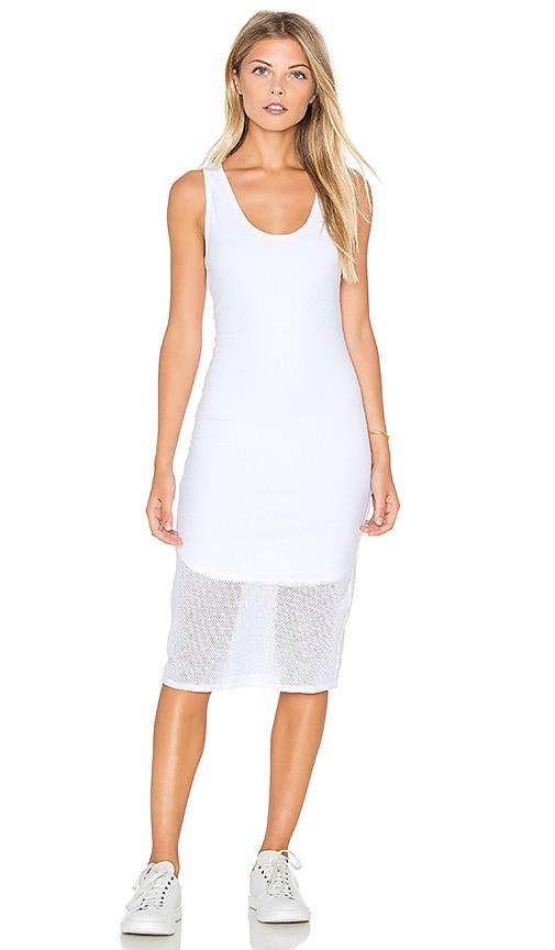 Mesh V Neck Tank Midi Dress
