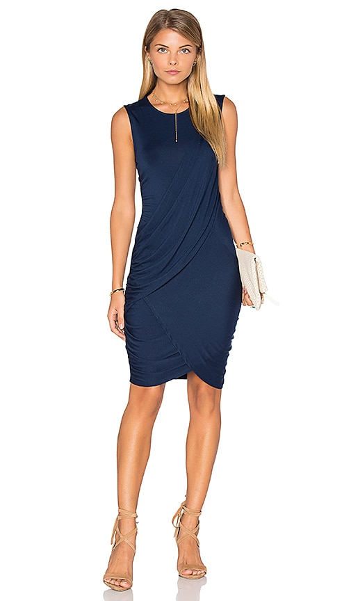 Michael Stars Eveny Bodycon Dress in Navy