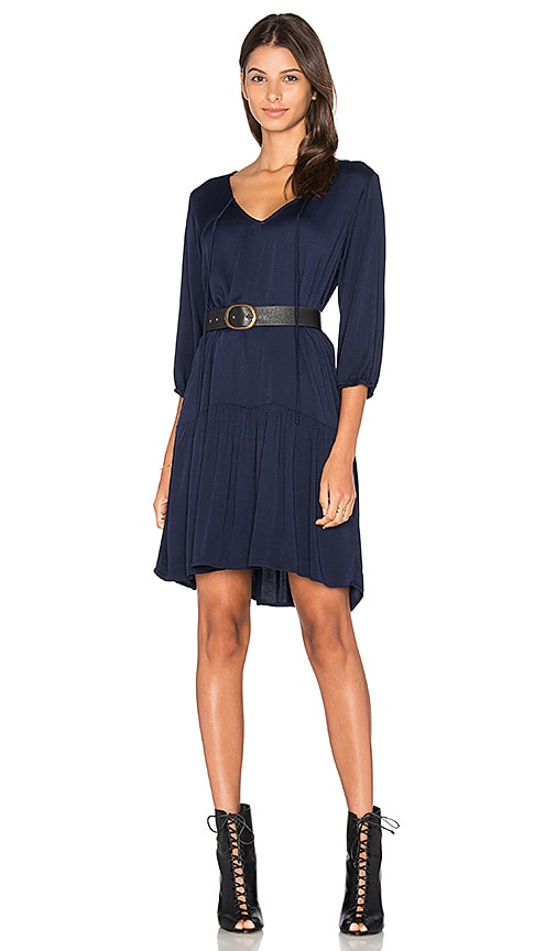 Michael Stars 3/4 Sleeve Drop Waist Dress in Navy