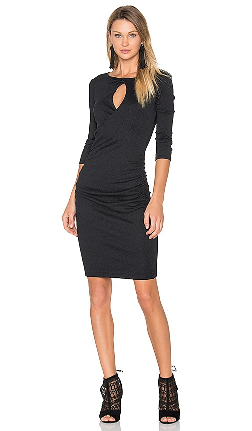 Michael Stars Keyhole Dress in Black