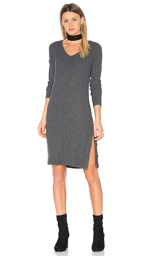 Michael Stars Snap Midi Dress in Gray