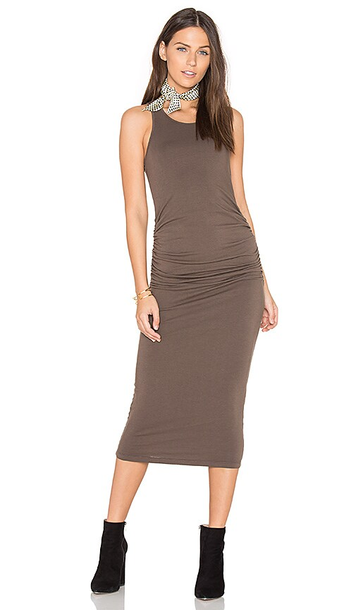 Michael Stars Racerback Dress in Brown