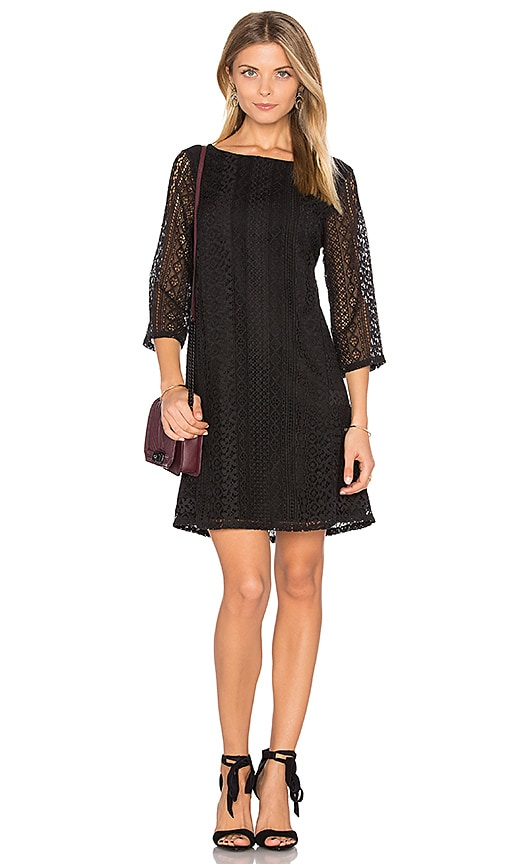Michael Stars Lace Shift Dress in Black
