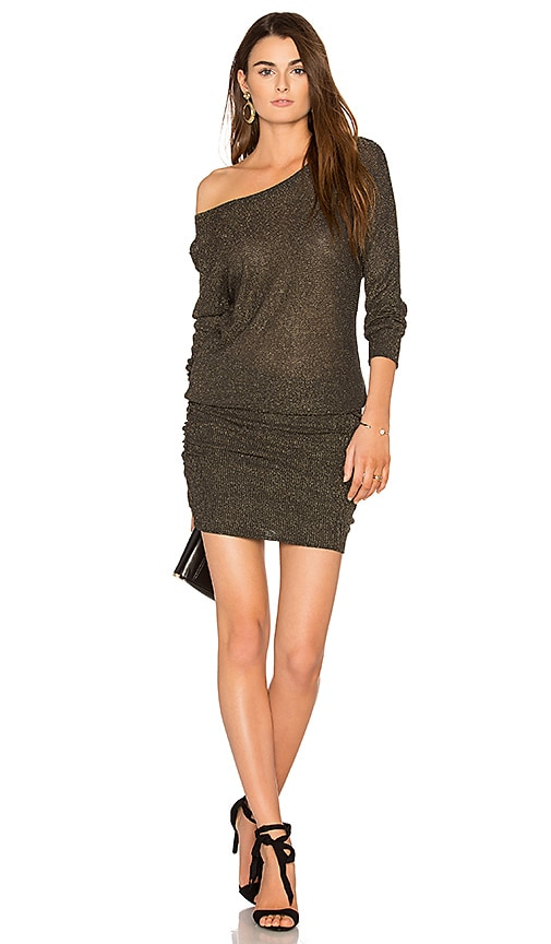 Michael Stars Shirred Mini Dress in Gray