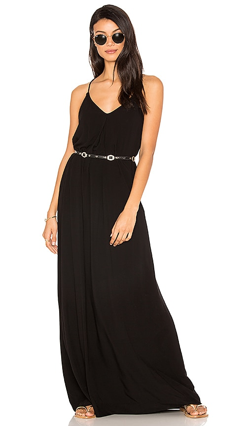 Michael Stars Maxi Slip Dress in Black