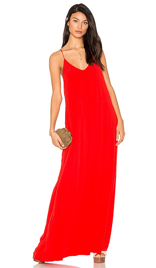 Michael Stars Maxi Slip Dress in Red