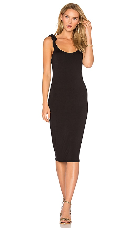 Michael Stars Tie Midi Dress in Black