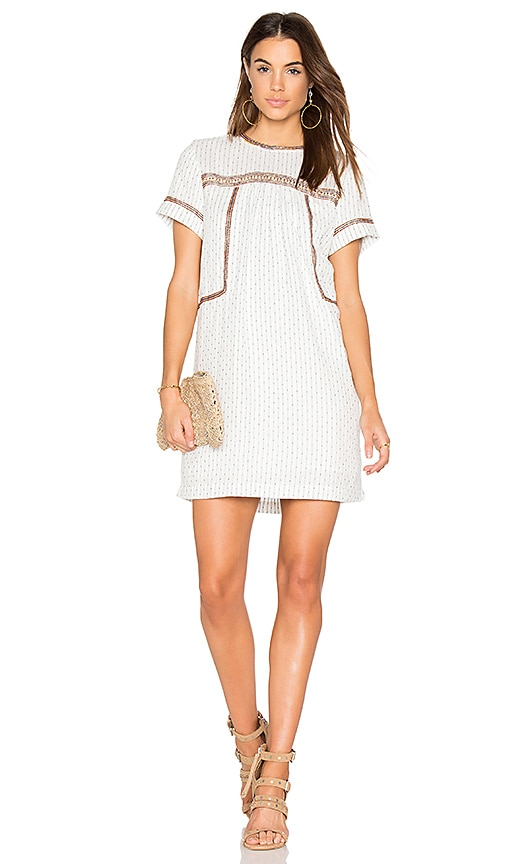 Michael Stars Dobby Stripe Dress in White