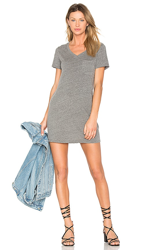 Michael Stars Jersey Pocket Dress in Gray