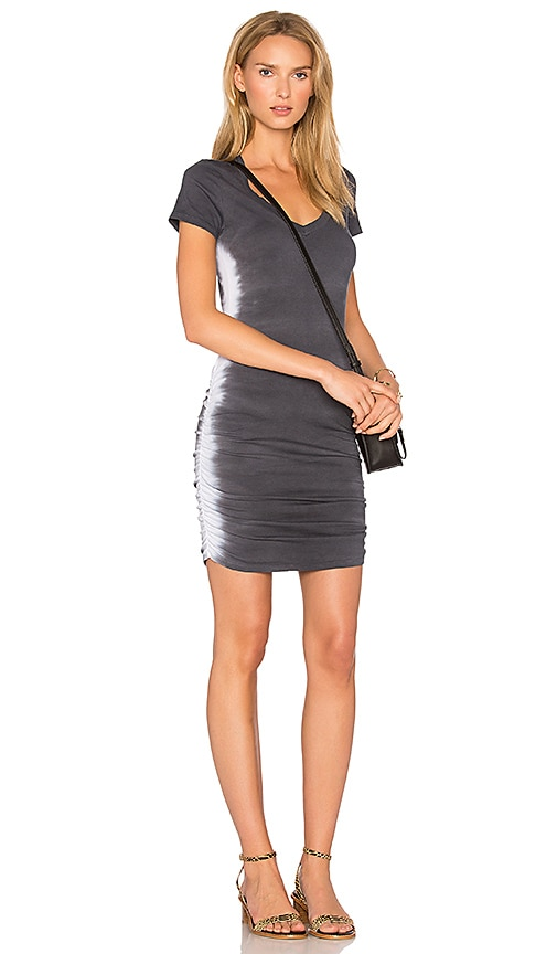 Michael Stars Flame Wash Dress in Charcoal