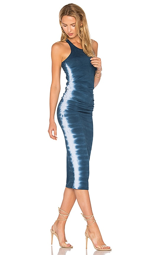 Michael Stars Flame Wash Midi Dress in Navy