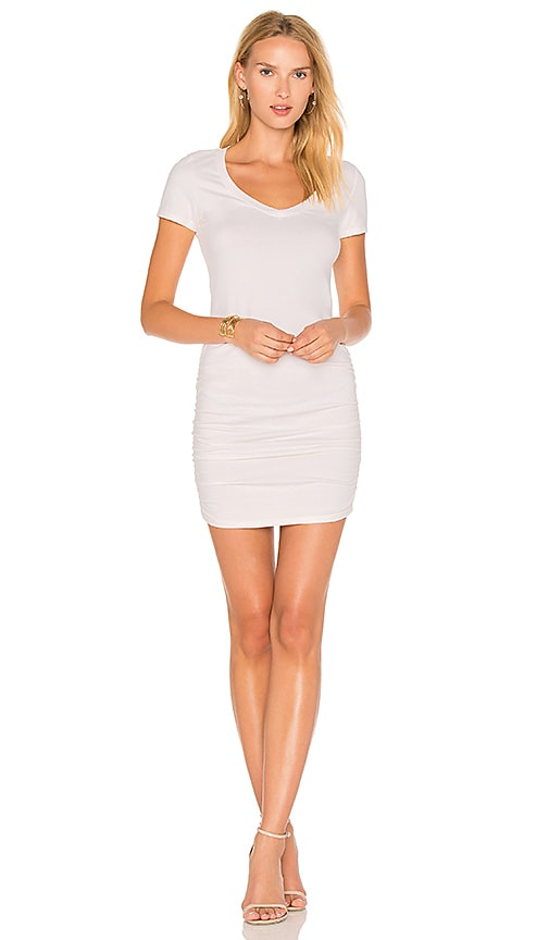 Michael Stars Ruched T Shirt Dress In Chalk Revolve