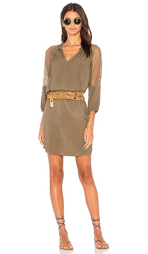 Michael Stars Mesh Mix Dress in Green