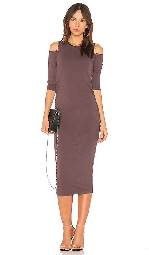 Michael Stars Cold Shoulder Dress in Purple