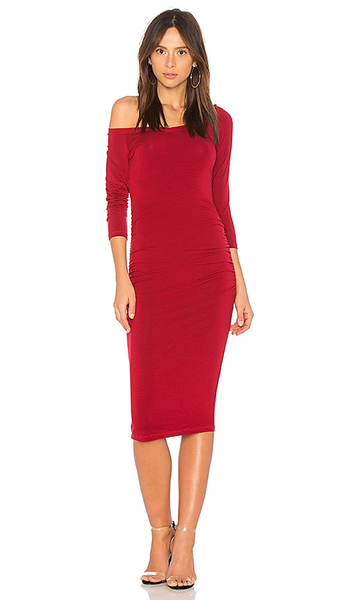 Michael Stars Off the Shoulder Dress in Red