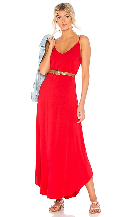 Michael Stars Rylie Reversible Maxi Dress in Red