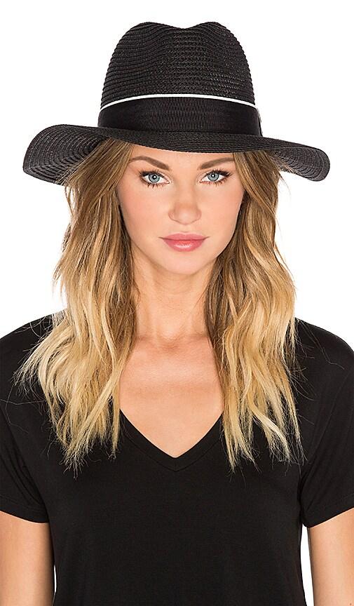 Michael Stars Corfu Wide Brim Hat in Black