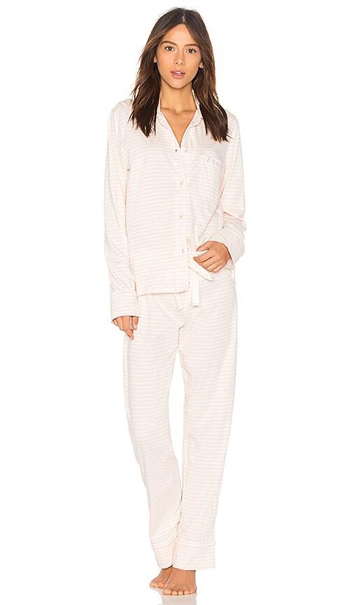 bba7e9f5df Michael Stars Classic Pajama Set in Whisper   Chalk
