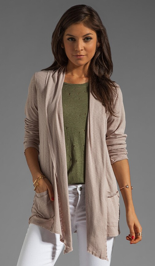 Long Sleeve Raw Edge Open Cardigan