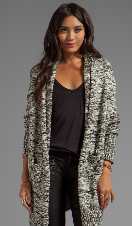 Marl Long Sleeve Convertible Cascade Cardigan