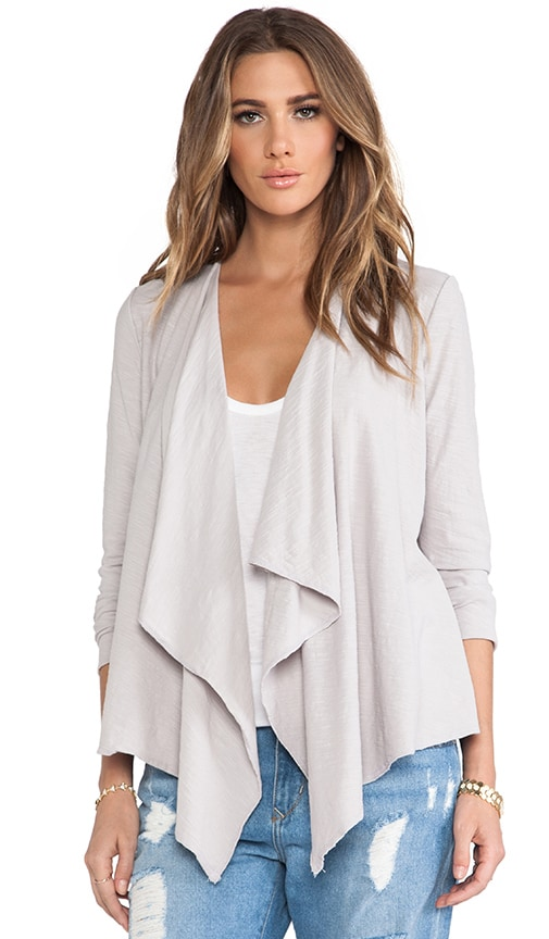 Long Sleeve Cascade Front Cardigan