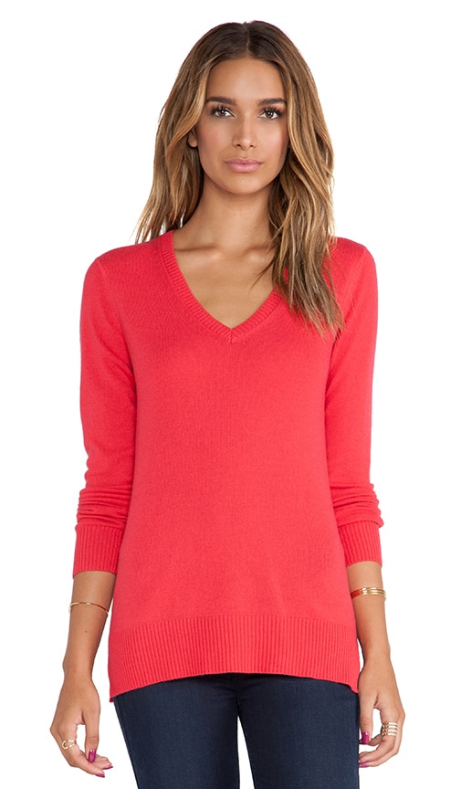 Long Sleeve Deep V Sweater