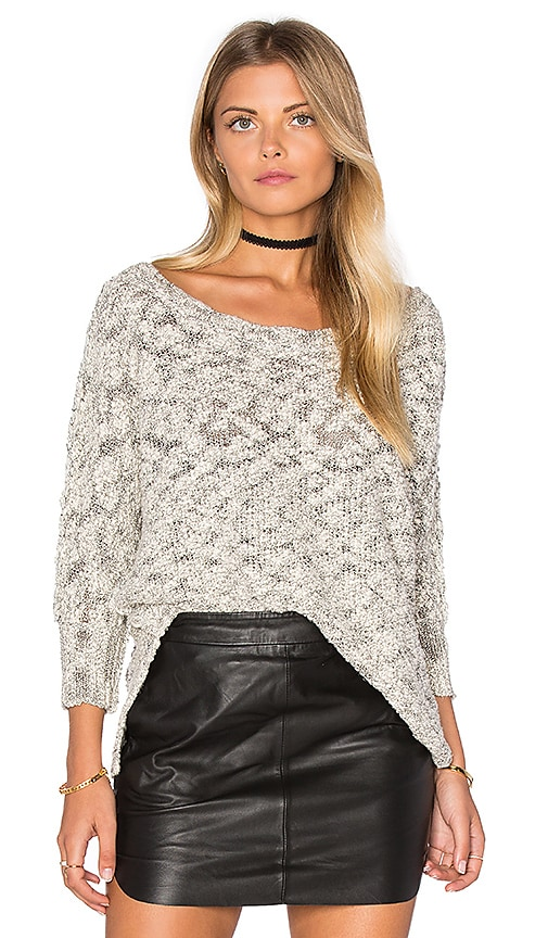 Michael Stars Boatneck Dolman Sweater in Gray