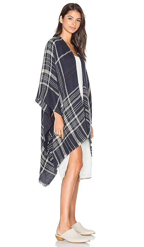 85%OFF Michael Stars Plaid To See You Cape in Nocturnal - www ... 7a34f02e5